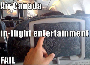 And on a lighter note, here's an Air Canada funny: