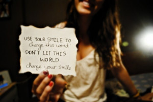 ... , beautiful quotes, brunette, change, cute, girl, smile, paper, swee
