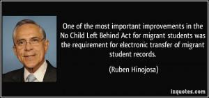 One of the most important improvements in the No Child Left Behind Act ...