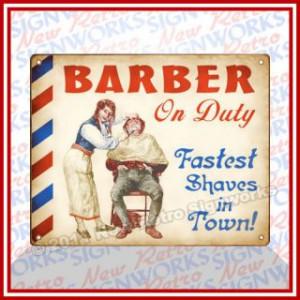 Vintage Signs On Barber Shop Hair Salon Vintage Sign Wall