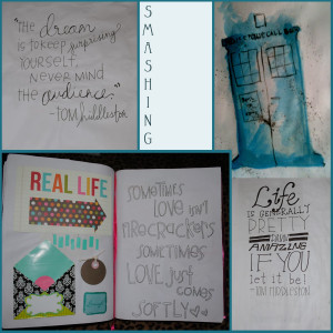 Collage Friday: Smash Book Highlights {I'm a Fan Girl}
