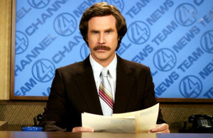 will ferrell in the title role of anchorman the legend of ron burgundy