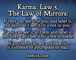 Karma: Law 5, The Law of Mirrors: