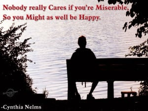 ... With Quotes: Faraway Man Sitting In A Chair On The Beach A Sad Quote