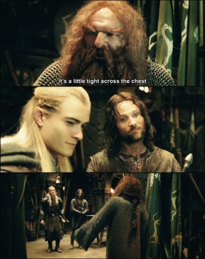 Aragorn: (in Elvish) There is nothing to forgive, Legolas.