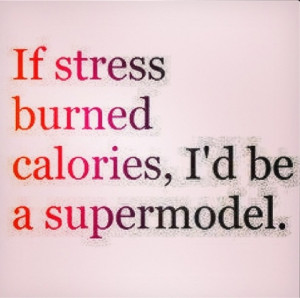 ... .blog...Blonde Butterflies: QUOTE | Stress - supermodel