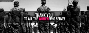 Thank You To All Women Who Serve Facebook Cover