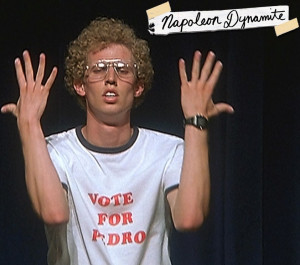 INTRO: What's with the Napoleon Dynamite type of background?