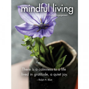 Home > Obsolete >Mindful Living 2013 Small Engagement Calendar