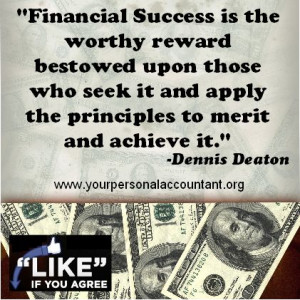 Financial Success Quote