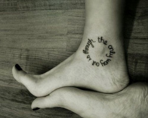 Black Foot Quote Tattoos for Girls - Cute Foot Quote Tattoos