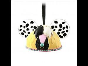Cruella De Vil Ear Hat Ornament