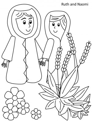 Ruth and Naomi coloring page Bible Stories, Schools Ideas, Sunday ...