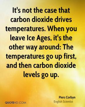 It's not the case that carbon dioxide drives temperatures. When you ...