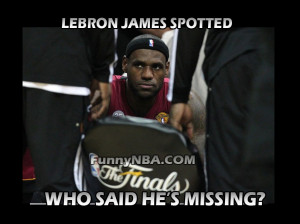 Lebron James is not Missing...