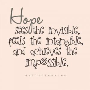Monday Motivation {Don't Give Up Hope}