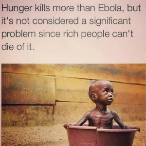 Starvation is not due to a shortage of food – the issues are 100% ...
