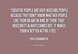 Insecure People Quotes Preview quote