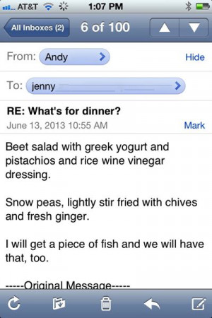 RE: What's for Dinner?