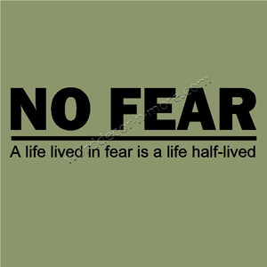 L010 NO FEAR Motivational Wall Quote