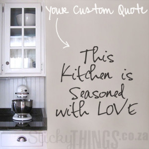 Custom Wall Sticker Quote - StickyThings.co.za