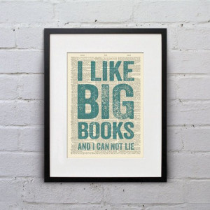 Big Books And I Can Not Lie - Inspirational Quote Dictionary Page Book ...