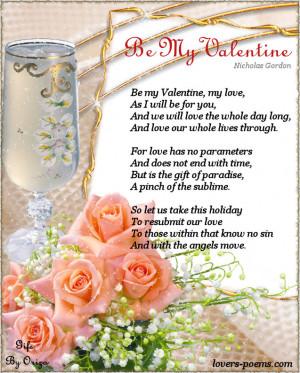 be my valentine love poem for valentine s day