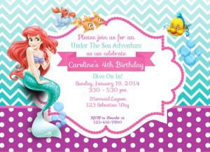 ... Princesses, Ariel Invitations, 3Rd Birthday, Mermaid, Birthday Ideas