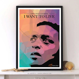 ... Slave - Chiwetel Ejiofor Characters & Quotes Typography Print Poster