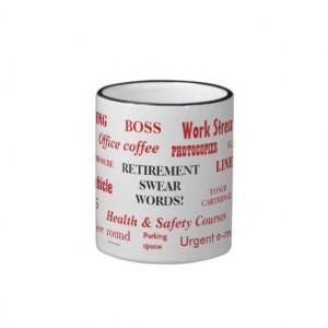 Retirement Swear Words! Funny Retirement Sayings Mugs