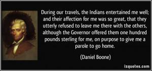 More Daniel Boone Quotes