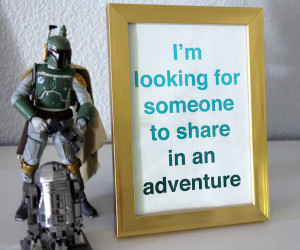 Geek Valentine Gift - Geeky Love Quote