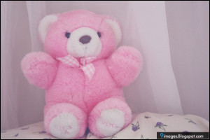 Pink, teddy-bear, cute, love, adorable