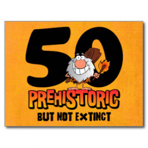 Prehistoric 50th Birthday Postcard Invitation