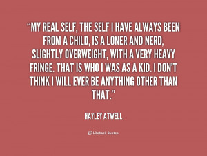 HAYLEY ATWELL QUOTES