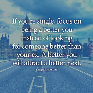 Focus On Being A Better You Quote Graphic