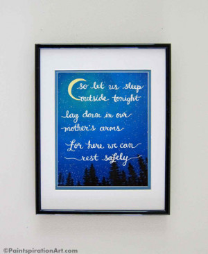 Painting Prints Quote Art Dave Matthews Band - Wanderlust Camping Art ...