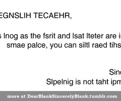 Funny Teacher Quotes About Students Dear blank sincerely blank