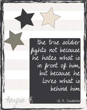 Army Soldier Quote- True Soldiers Digital Print
