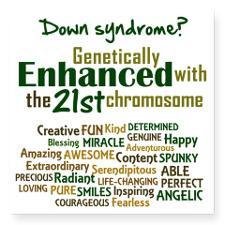 Down syndrome? Square Sticker 3