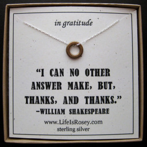 Thank You Quotes For Boyfriend Thank you gift - necklace