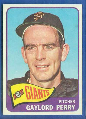 1965 Topps #193 Gaylord Perry [#c] (Giants) Baseball cards value