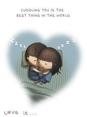 Cuddling love quote