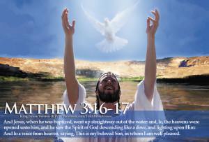 Bible Verses Holy Spirit Matthew 3:16-17 Jesus Baptized HD Wallpaper