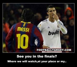 ... Messi vs Cristiano Ronaldo funny