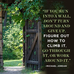 Inspirational quote: Figure out how to climb..... motivational quotes ...