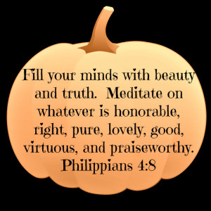 Autumn Pumpkin Decorations with Bible verses