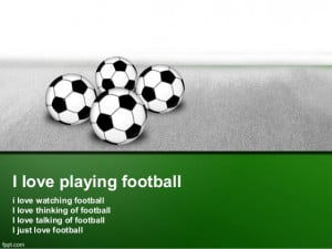 Love Football Quotes I love playing football