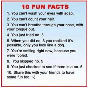 10 Fun Facts–Cognitive Bias