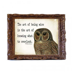 typography 10x13 owl quote art print poster distressed home decor ...